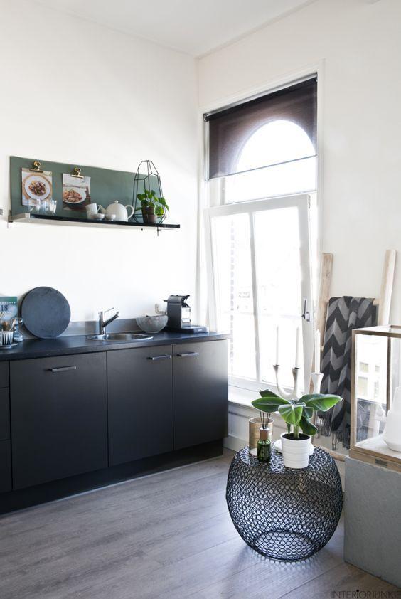 decoralinks| muebles negros en la cocina