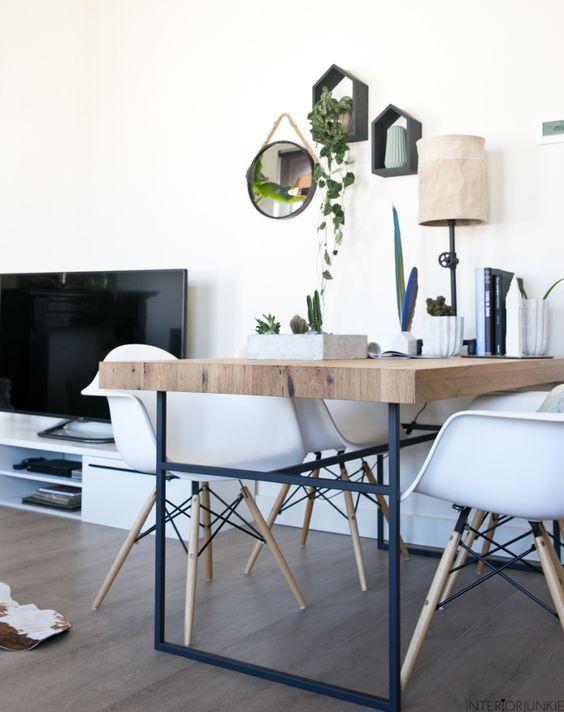 decoralinks | mesa comedor diy y sillas eames