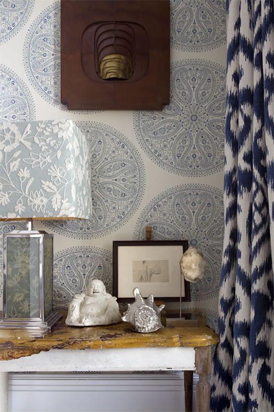 decoralinks | cortinas estampados ikat Lorenzo Castillo
