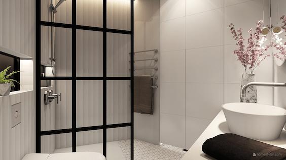 decoralinks | white and black bathroom - design by Decoralinks Studio