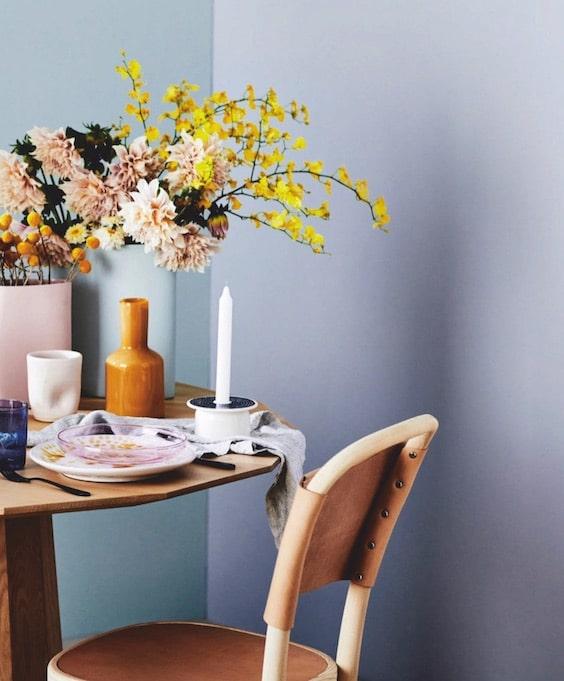 decoralinks| flores y jarrones - dalias y mimosas