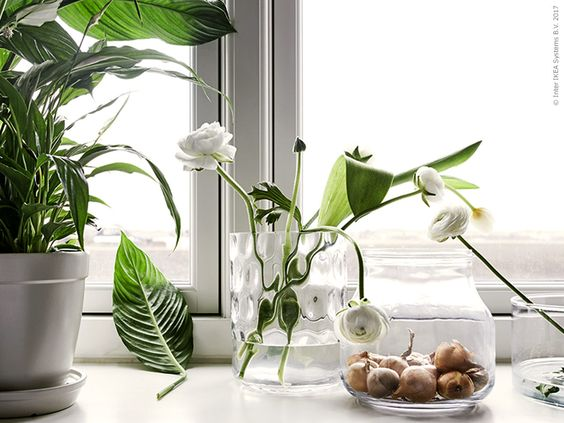 decoralinks | jarrones transparentes de ikea