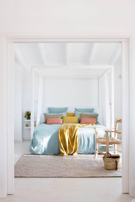 decoralinks  color vestir cama verano - tonos pastel