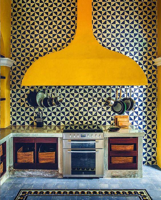 decoralinks   combinaciones color antidrepresivas - cocina mexicana con colores block amarillo y negro
