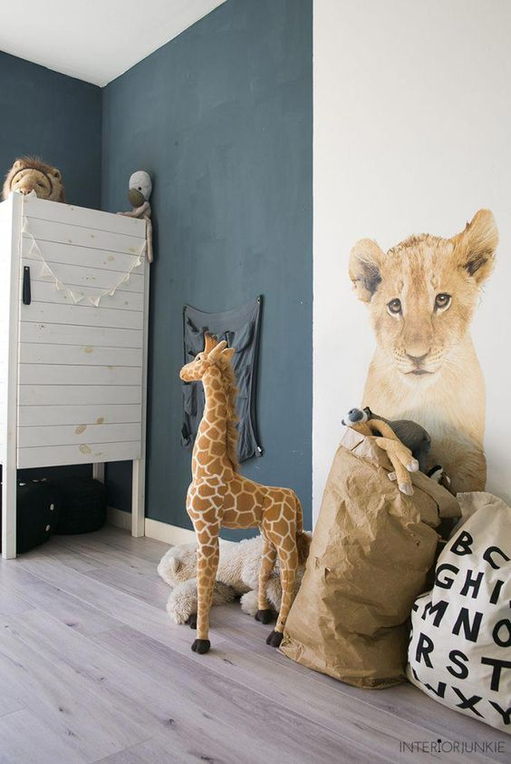 decoralinks | stickers de animales - photo by InteriorJunkie - #animalstickers #nursery