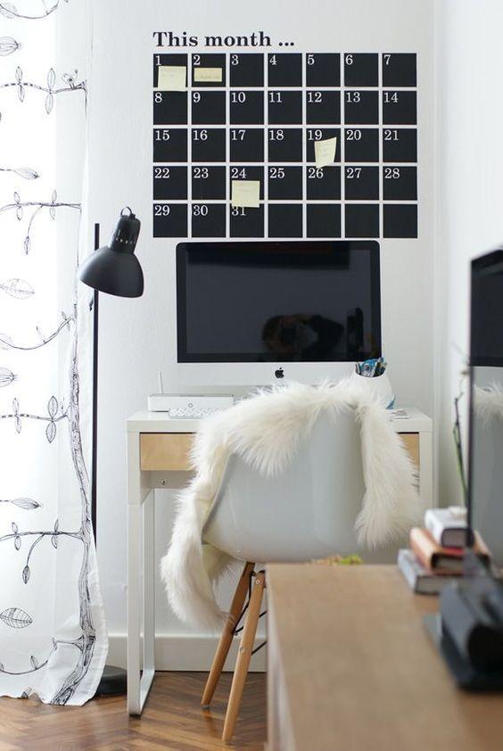 decoralinks | vinilo calendario y mesa #Micke de #Ikea - #vinilos #ikeadesk
