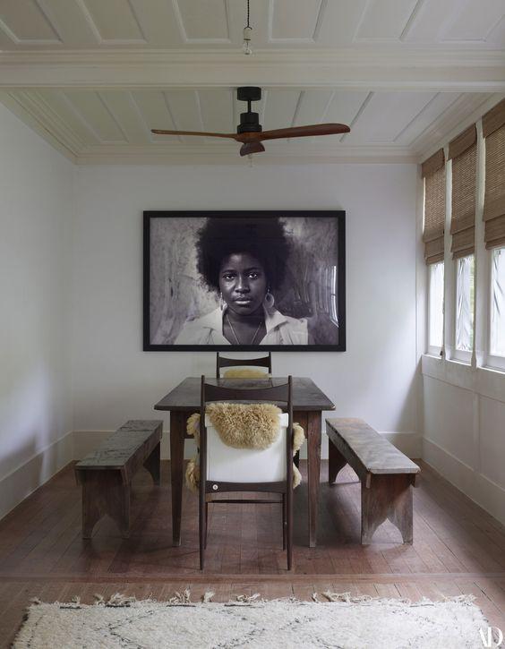 decoralinks | comedor en galeria de lenny kravitz en su hacienda de brasil