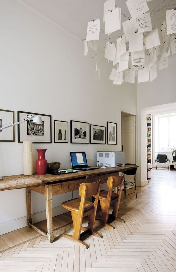 decoralinks | el pasillo como lugar inesperado de trabajo