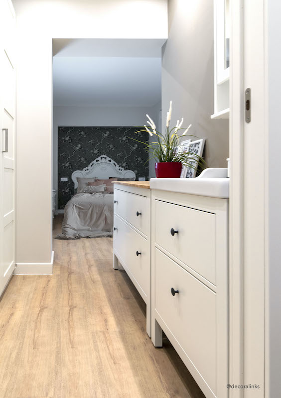 decoralinks | reforma piso, vestidor con muebles Ikea