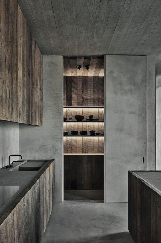 decoralinks | #cocina #microcemento  #maderaenbruto #vincentvanduysen #rawmaterials