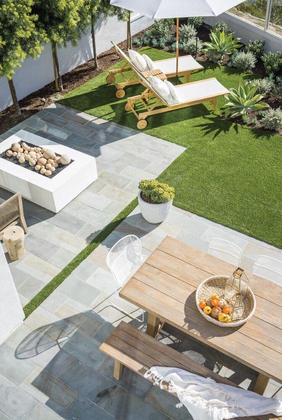 decoralinks | jardin con cesped artificial