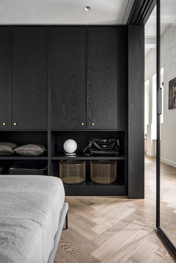 decoralinks | casa una distribución perfecta #armario #negro #dormitorio #bedroom