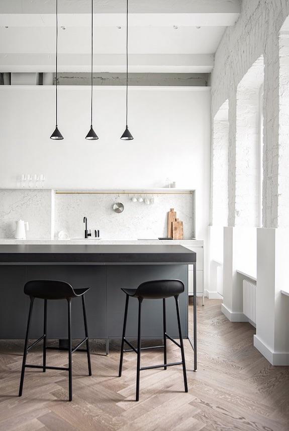 decoralinks | #cocinaabierta #ladrilloblanco #openconcept #marmol
