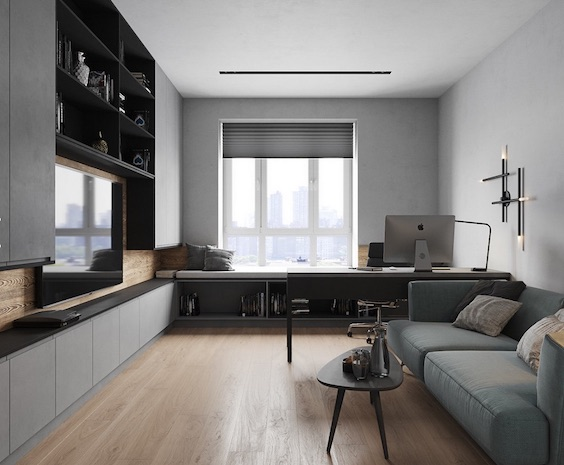 #customizeddesign #tvstand #workspace #grey