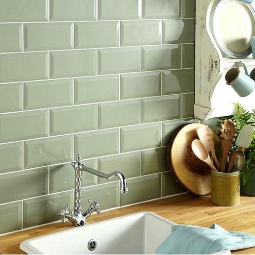 new metro sage gloss ceramic tile