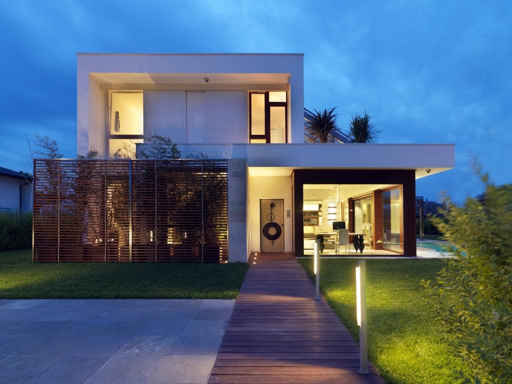 Projetos De Casas Modernas Com Telhado Embutido