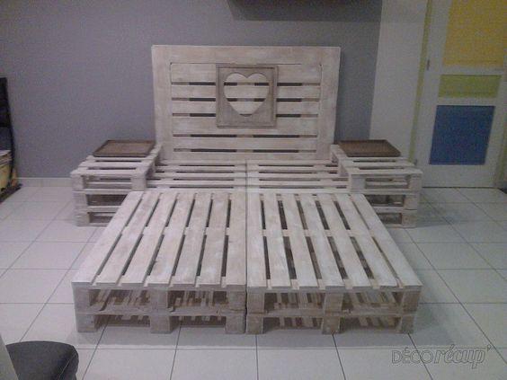 móveis de palete: Cama de paletes