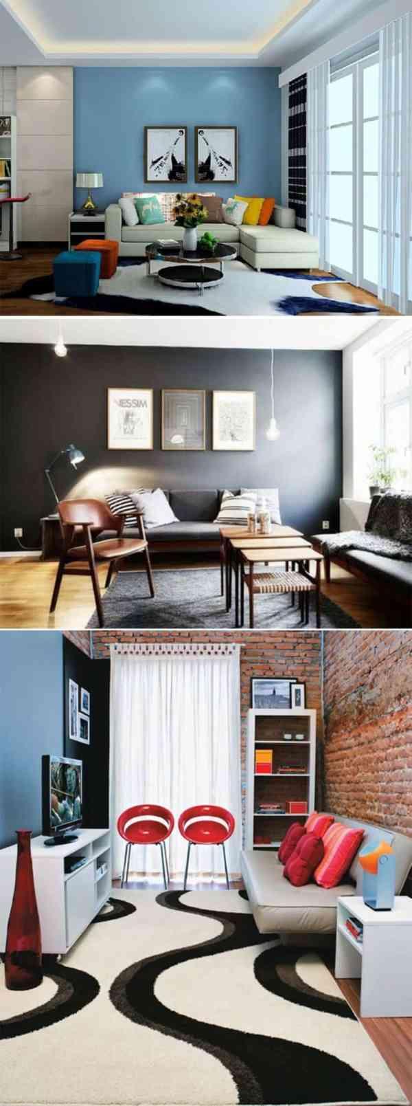 6 Ideias Ador Veis Para Uma Sala Mais Colorida Decorar Com Charme -> Sala De Estar Decorada Para Apartamento Pequeno