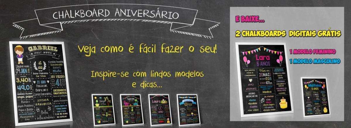 Chalkboard Aniversário Infantil - Bela Opção para decoração!
