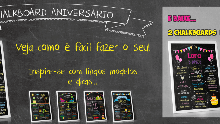 quadro chalkboard aniversario infantil chalkboard gratis chalkboard digital