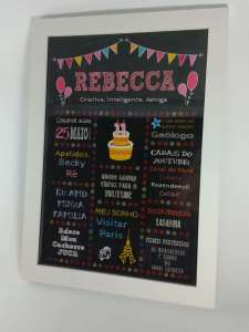 Chalkboard aniversário