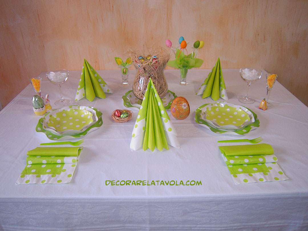 Idee per apparecchiare la tavola a pasqua decorare la tavola - Apparecchiare la tavola bicchieri ...