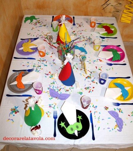 Come apparecchiare tavola a Carnevale