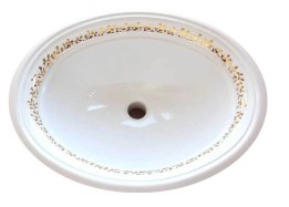 fancy gold border ornate painted sink