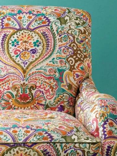 armchair in paisley