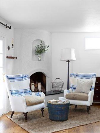 striped vintage upholstery