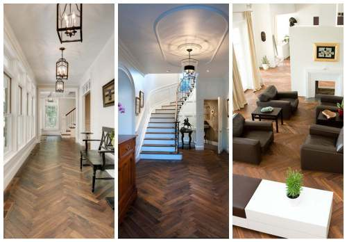 Herringbone Floors Collage