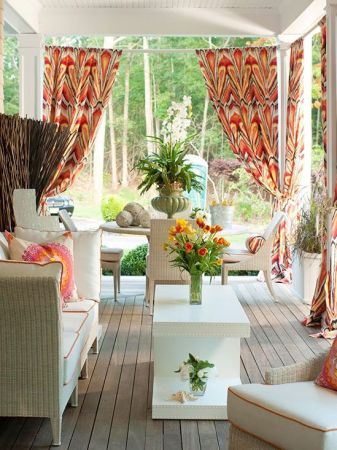 patterned curtains