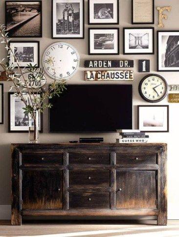 add clocks to create a photo wall