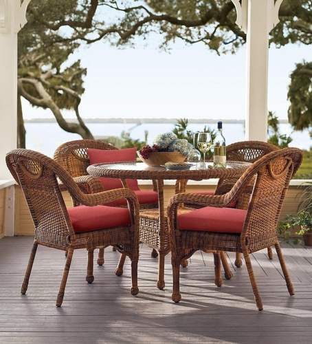 resin wicker outdoor dining table
