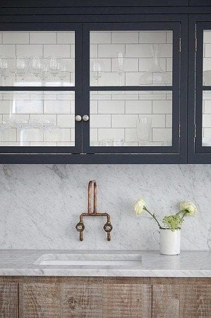 matching backsplash and countertop