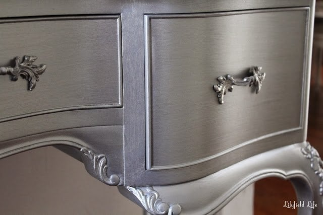 Crackle Metallic Furniture Paint