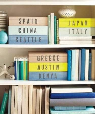 store mementos in DIY painted boxes