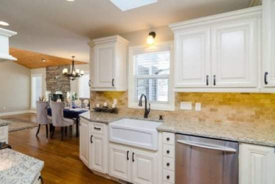 white stock cabinets