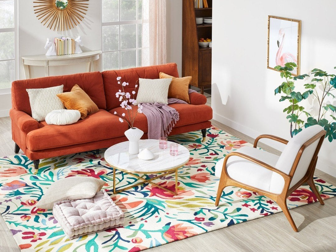 What Color Rug Goes A With Red Couch 10 Ideas
