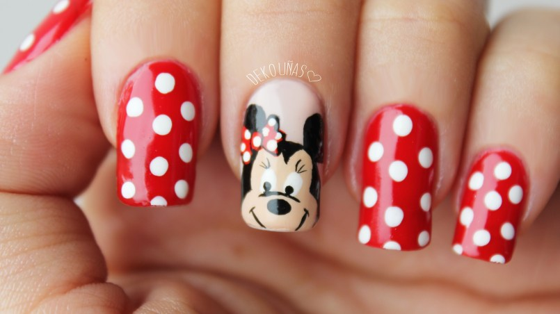 unas-decoradas-minnie