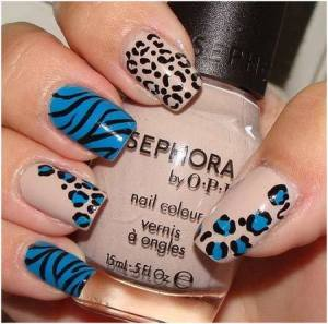 uñas decoradas animal print 10
