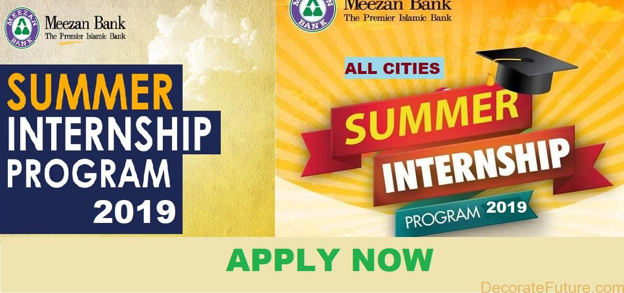 Meezan Bank Summer Internship Program 2019 - All Cities