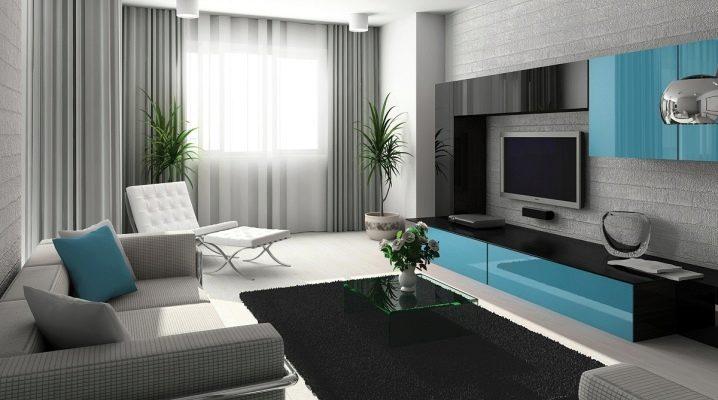 """غرفة الجلوس (120 صورة): تصميم القاعة في الشقة على طراز """"البسيط"""" و """"الحديث""""  ، اللوحات الجدارية الجميلة في داخل الغرفة"""