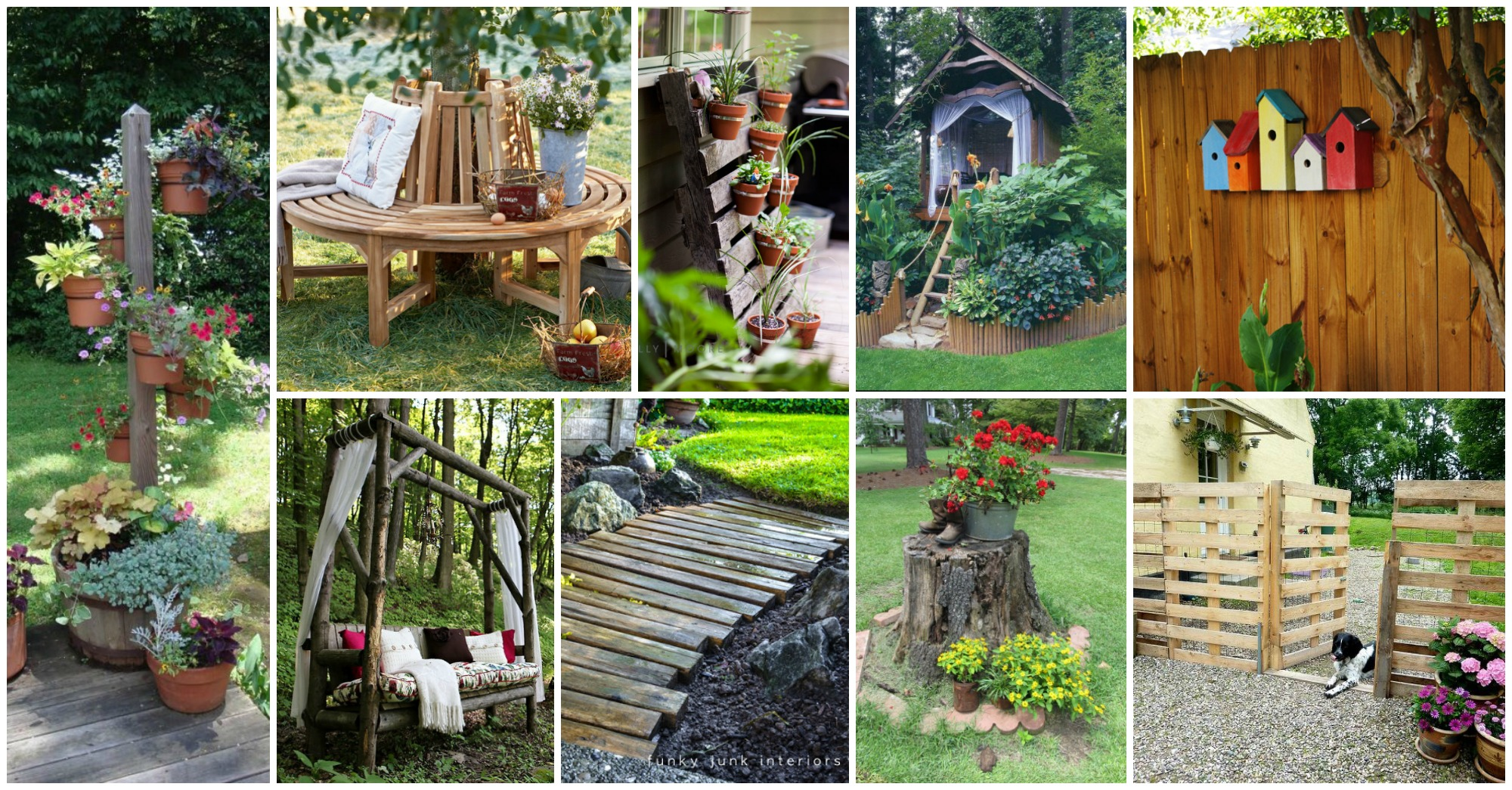 15 Awesome DIY Wooden Decoration For Your Garden on Diy Back Garden Ideas  id=81522