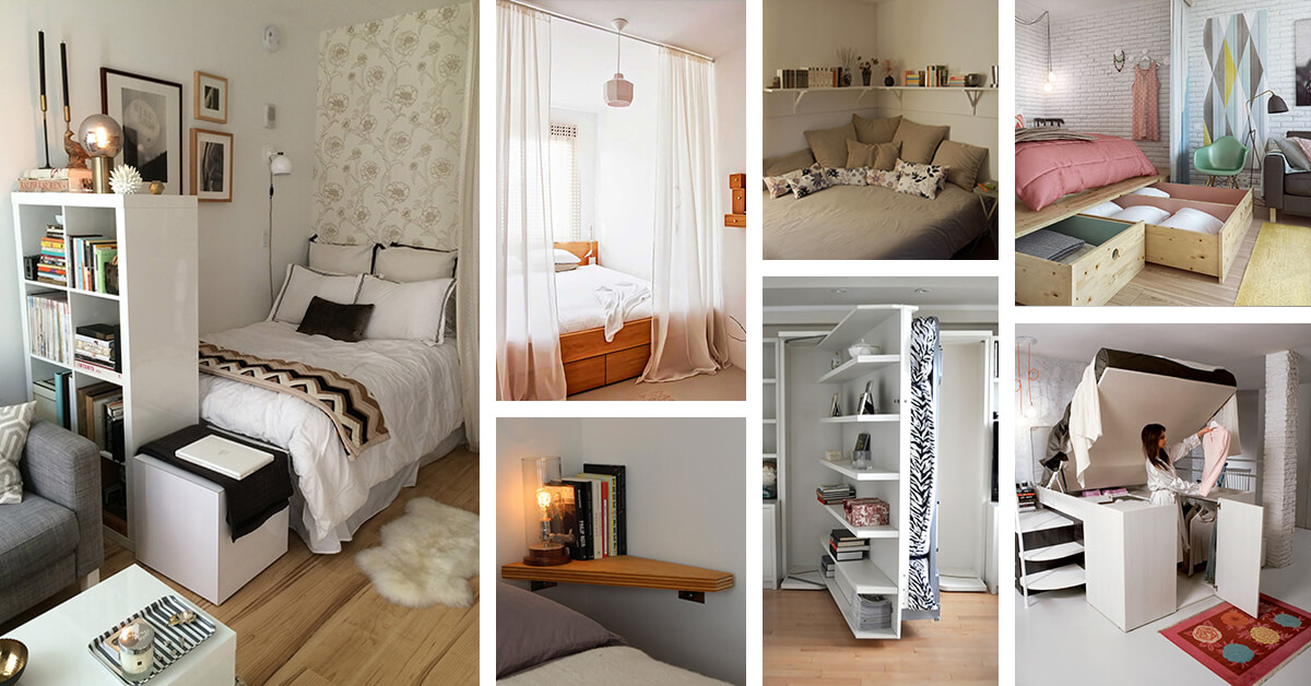 20+ Smart Space Saving Ideas For Your Tiny Bedroom on Girl:u7_Sz_Dbse0= Small Bedroom Ideas  id=89465