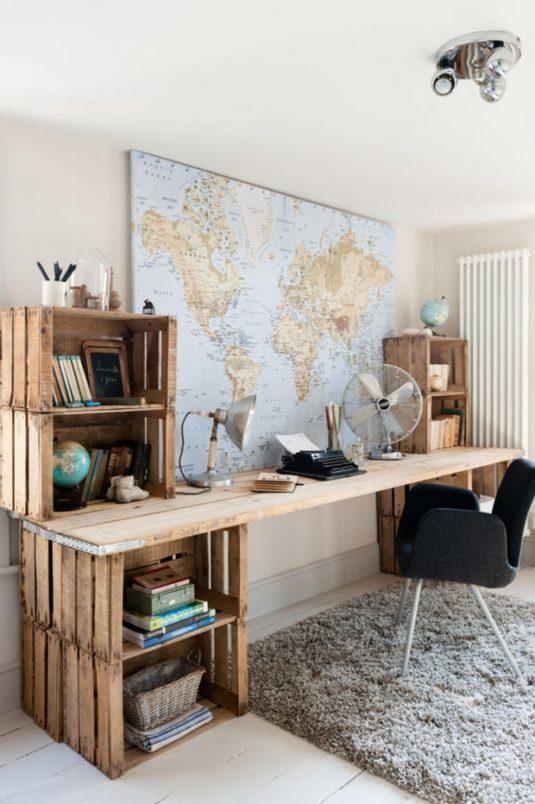 20+ DIY Wooden Crates Furniture Design Ideas