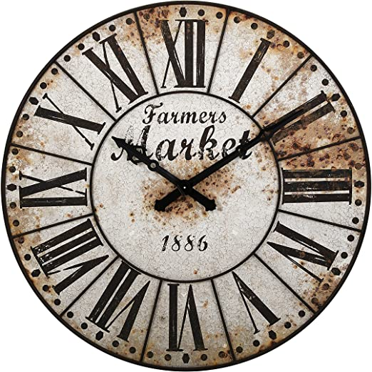 Large Decorative Farmhouse Style Wall Clocks Extra Large Clocks Decorating Ideas And Accessories For The Home Creative Ideas For Every Room