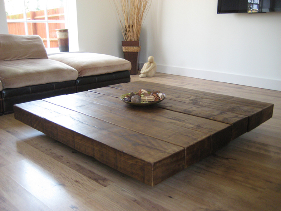 square coffee table decor simple
