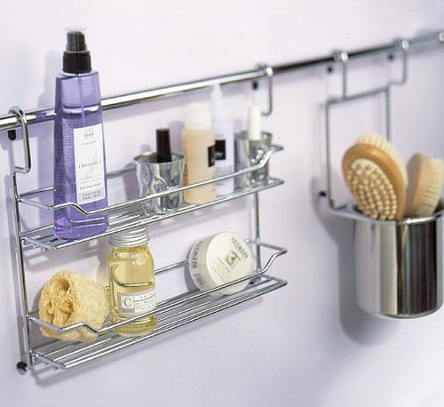 stylish bathroom storage ideas repurpose a kitchen storage bar for the bathroom hang it