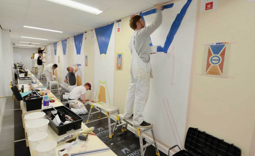 Painting and decorating students at Inverness College UHI